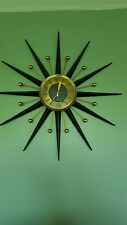 Mid Century Starburst & Ball Metal Voltra Germany Elgin ? Welby ? Wall Clock WOW