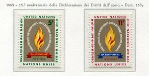 19054-UNITED-NATIONS-New-York-1963-MNH-Nuovi-Human-Rights