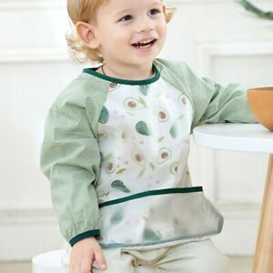 Blue Lion Baby Toddler Coverall Art Paint Apron Waterproof Long Sleeves Bibs