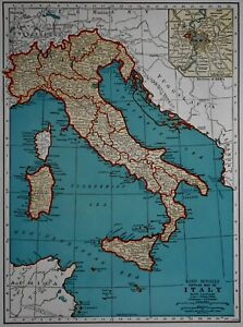 Map Of Italy And Switzerland.Details About Vintage 1942 Atlas Map World War Wwii Italy Switzerland Old Europe With Rome
