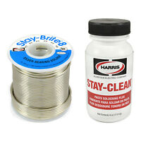 Harris Stay-brite 8 Silver Bearing Solder & Stay-clean Flux Sb831 Scpf4 Kit