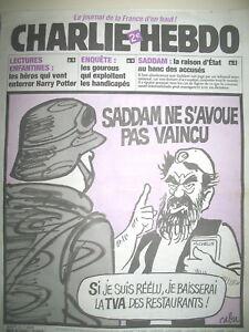 CHARLIE-HEBDO-N-600-SADDAM-PAS-VAINCU-DESSINS-CABU-RISS-LUZ-CHARB-2003