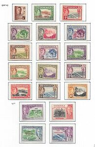 Dominica stamps 1938 SG 99-108a+SG 135-138 MLH VF