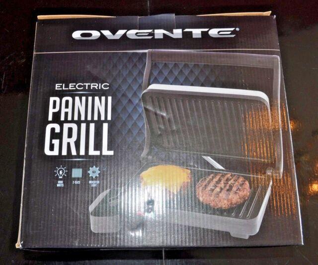 NEW OVENTE Electric Panini Press Grill GP0620B 1000W