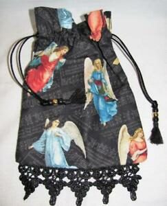 Victorian-Angels-Tarot-Card-Drawstring-Mojo-Bag-Cotton-Pouch-FREE-SHIPPING