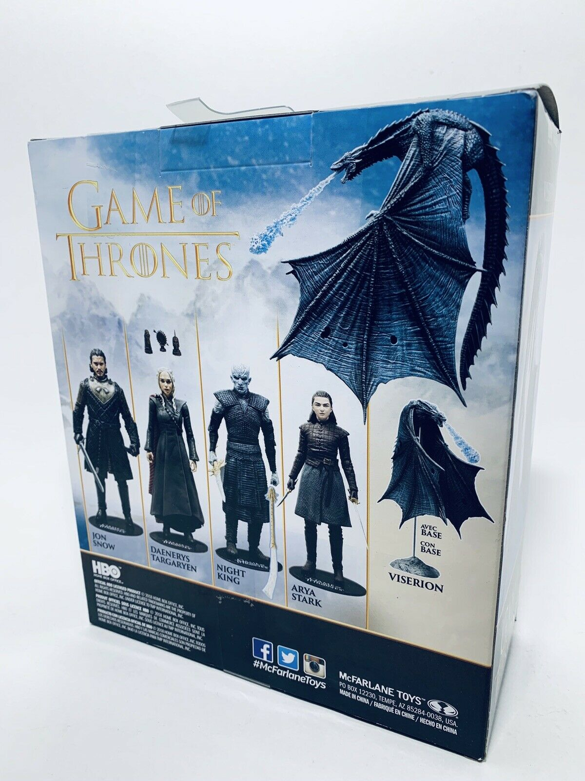 MCFARLANE MCFARLANE MCFARLANE TOYS Game of Thrones VISERION Ice Dragon Deluxe Figure d91efb
