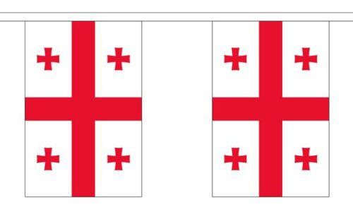 Polyester Georgia Republic Bunting 3m 6m 9m Metre Length 10 20 30 Flags