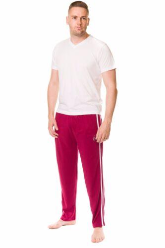Mens 100/%Cotton Jersey Pyjama Bottom Plain Lightweight Branded Lounge Pant M-3XL