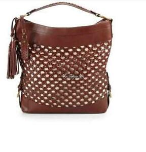 ae27df08a8 Image is loading NEW-ISABELLA-FIORE-WOVEN-LEATHER-LARGE-HOBO-BAG