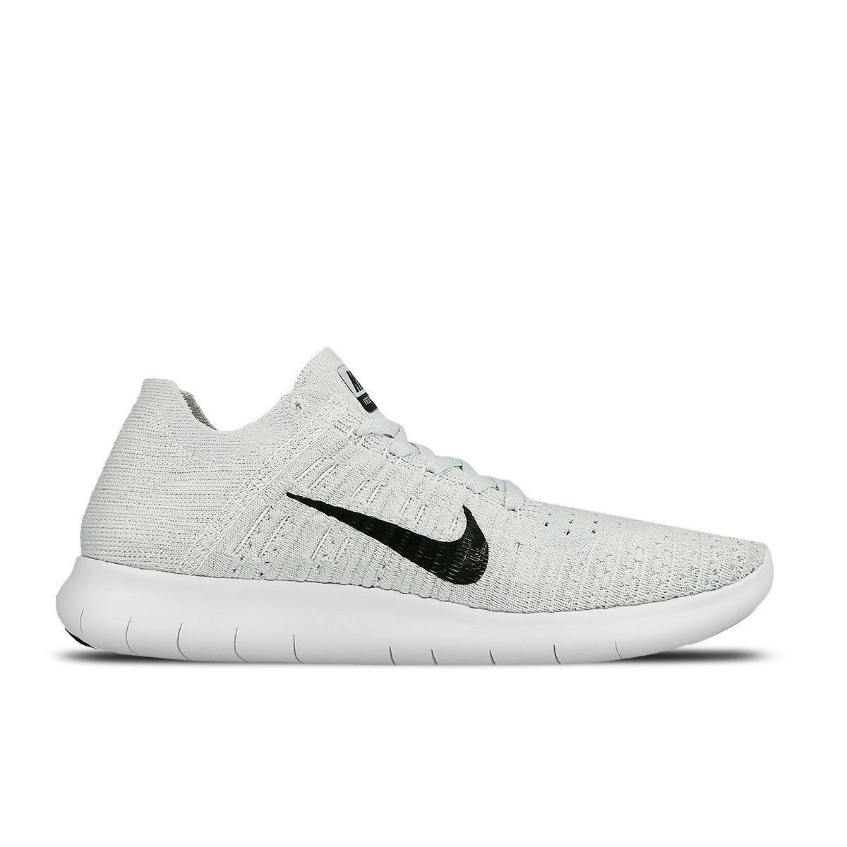 Nike Free Rn Flyknit 831070-101 Women's White Pure Platinum Running Very Rare Comfortable and good-looking