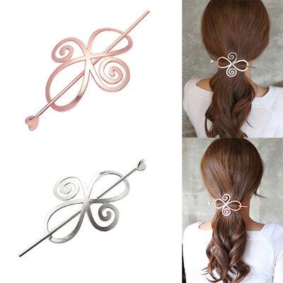 Fashion Women Flower Hairpin Barrette Hair Clip Ponytail Hair Holder Cheap