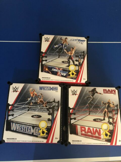 WWE Smackdown Superstar 14 Inch Wrestling Ring Toy Playset