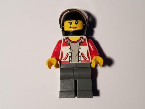 60148 Quad-Rennteam cty729 Mädchen LEGO® City Minifigur Quad-Rennfahrer aus
