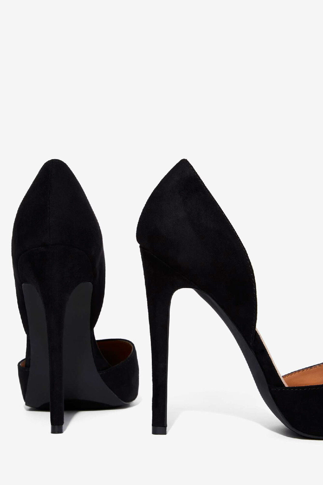 New New New  78 NASTY GAL schwarz AVENUE D'ORSAY FAUX SUEDE HEELS PUMPS schuhe SZ 10 34fad1