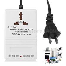 110V to 220V Step Up/Down Voltage Converter 300W Watt Adapter Transformer Travel