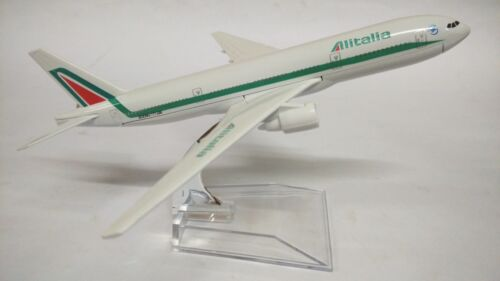 16cm 1450 Alitalia 777 Airplane Aeroplane Diecast Metal Plane Toy Model