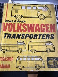 36 HP 40 HP Volkswagen Transporters Workshop Manual Rare