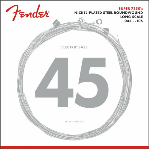 Roundw Fender Strings Super 7250 M 45-105 Nickel Pl. Longscale