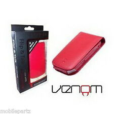Venom Red Blackberry Bold 9700 / 9780 Flip & Talk Wallet / Case Screen Protector