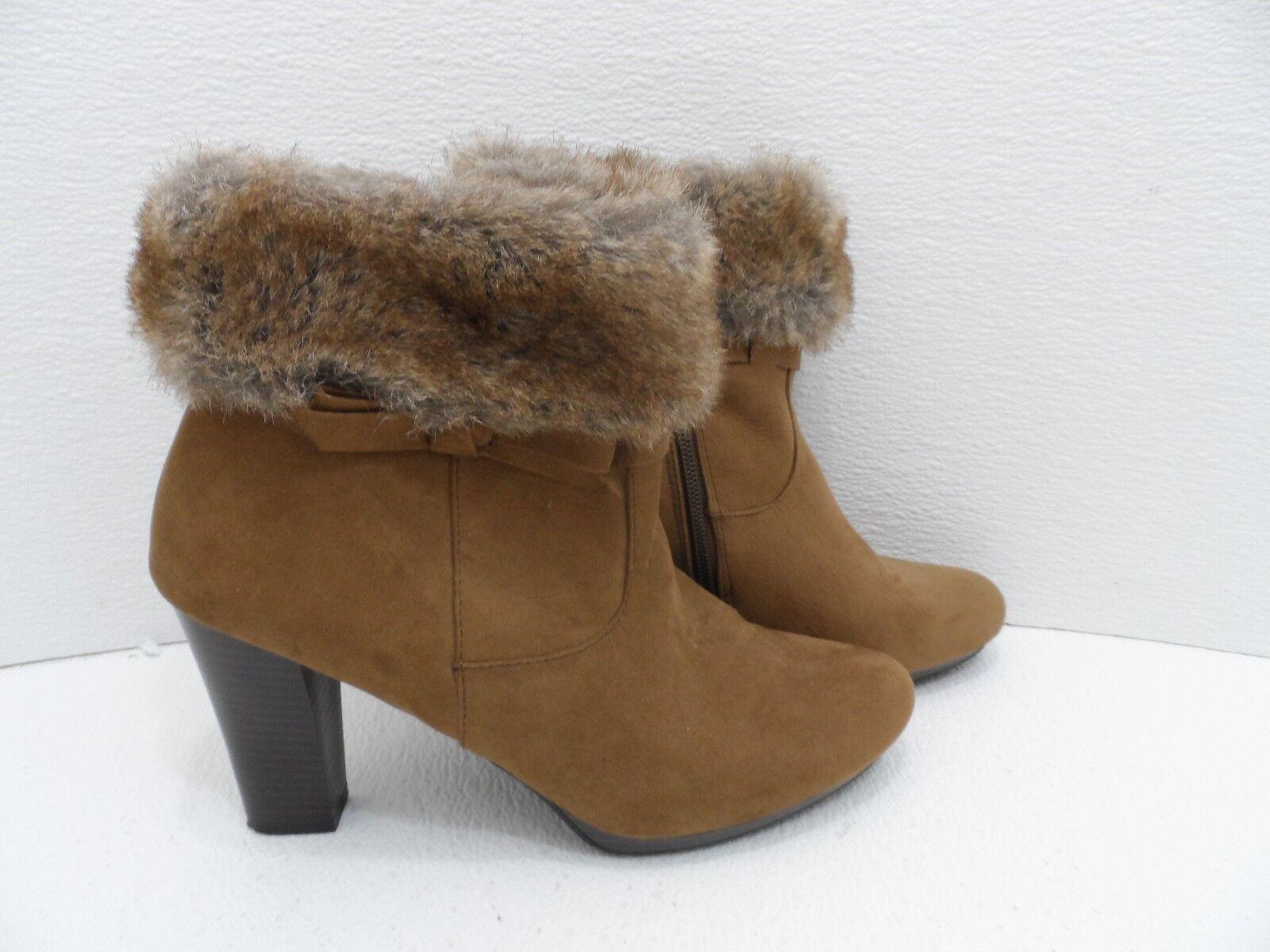 0945b3199b2e Dana Buchman Faux - Suede - and Fur Ankle Boots - Boots Tan - Size 10M -  VGC 932e327