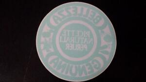 Adesivo Sticker Vetrofania RICETTE NATURALI PERLIER diametro cm 21 crica - Italia - Adesivo Sticker Vetrofania RICETTE NATURALI PERLIER diametro cm 21 crica - Italia