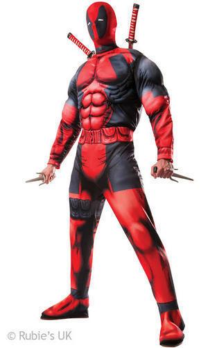 Deluxe Deadpool Weapon Kit Mens Fancy Dress Comic Superhero Adults Costume