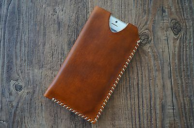 Handmade Genuine Vintage Leather Case Pouch Purse Sleeve iPhone 5s SE 6s 7 Plus