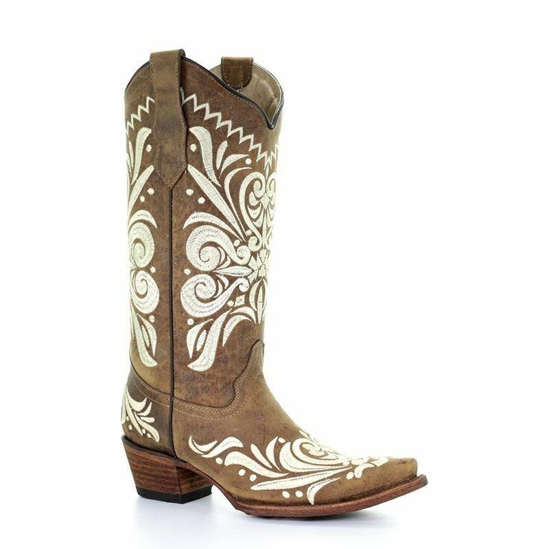 promozioni Corral Donna Western Cowboy Girl Girl Girl Marrone Ricamo Stivali L5392  in vendita scontato del 70%