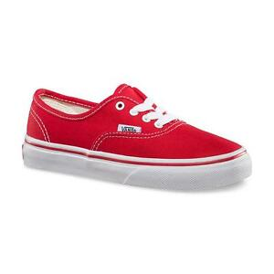 VANS-AUTHENTIC-BAMBINO-JUNIOR-WWX6RT-COL-ROSSO-RED-N-27-28-29-30-31-32-33-34