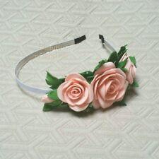 Rose Floral Flower Girl Crown Headband Hair Band little girl Wreath