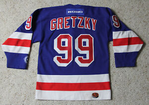 new arrivals cca7e f602d Details about NEW YORK RANGERS WAYNE GRETZKY #99 NHL Hockey Jersey Youth S  - M KOHO Canada