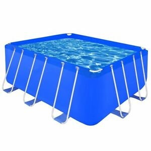 Rectangular Above Ground Swimming Pool Reinforced Steel 13 1 x 6