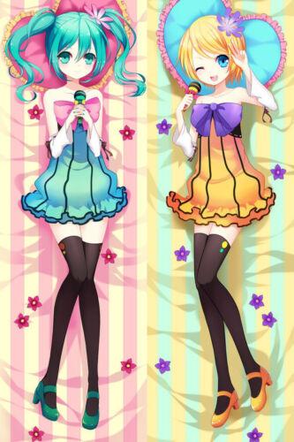New Vocaloid Hatsune Miku /& Rin Anime Dakimakura Japanese Pillow Cover V1