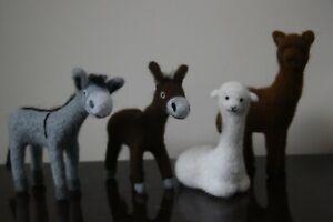 Needle-Felted-Donkey-and-Alpaca-039-s-Handmade-Free-P-P