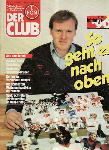 BL 88/89 1. FC Nuremberg - LA LA LA Club Novembre 1988 ee4145