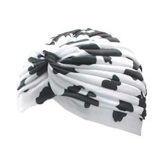 Womens Leopard Multifunctional Turban Ear Cap Beauty Big Satin Bonnet  Yoga Cat