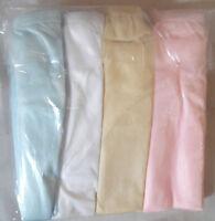 Lot Of 4 Nylon Panties White, Cream, Pink, Blue Plus Cotton Crotch Size 15