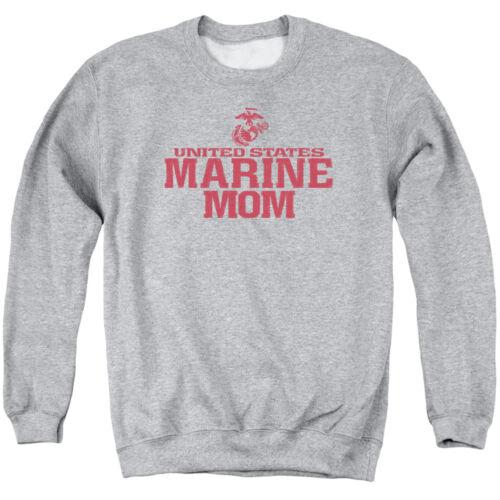 US Marine Mom Family USMC Heather Adult Pullover Sweatshirt