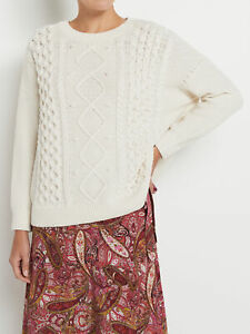 NEW-Sussan-Statement-Cable-Knit-Pullover