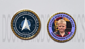 Beautiful United States Future Space Force Pilot Personalized Air Force Coin