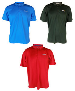 Nuevo-Regatta-Cordita-Mens-Maverik-Drenaje-Secado-Rapido-Camiseta-Mangas-Cortas-Gimnasio-Polo