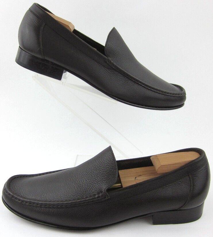 Cole Haan Moc Toe Slip On Dress Shoes Brown Soft Pelle Sz 13M