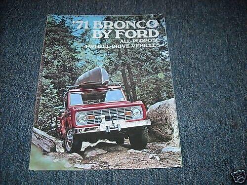 1971 FORD BRONCO DEALER SALES BROCHURE