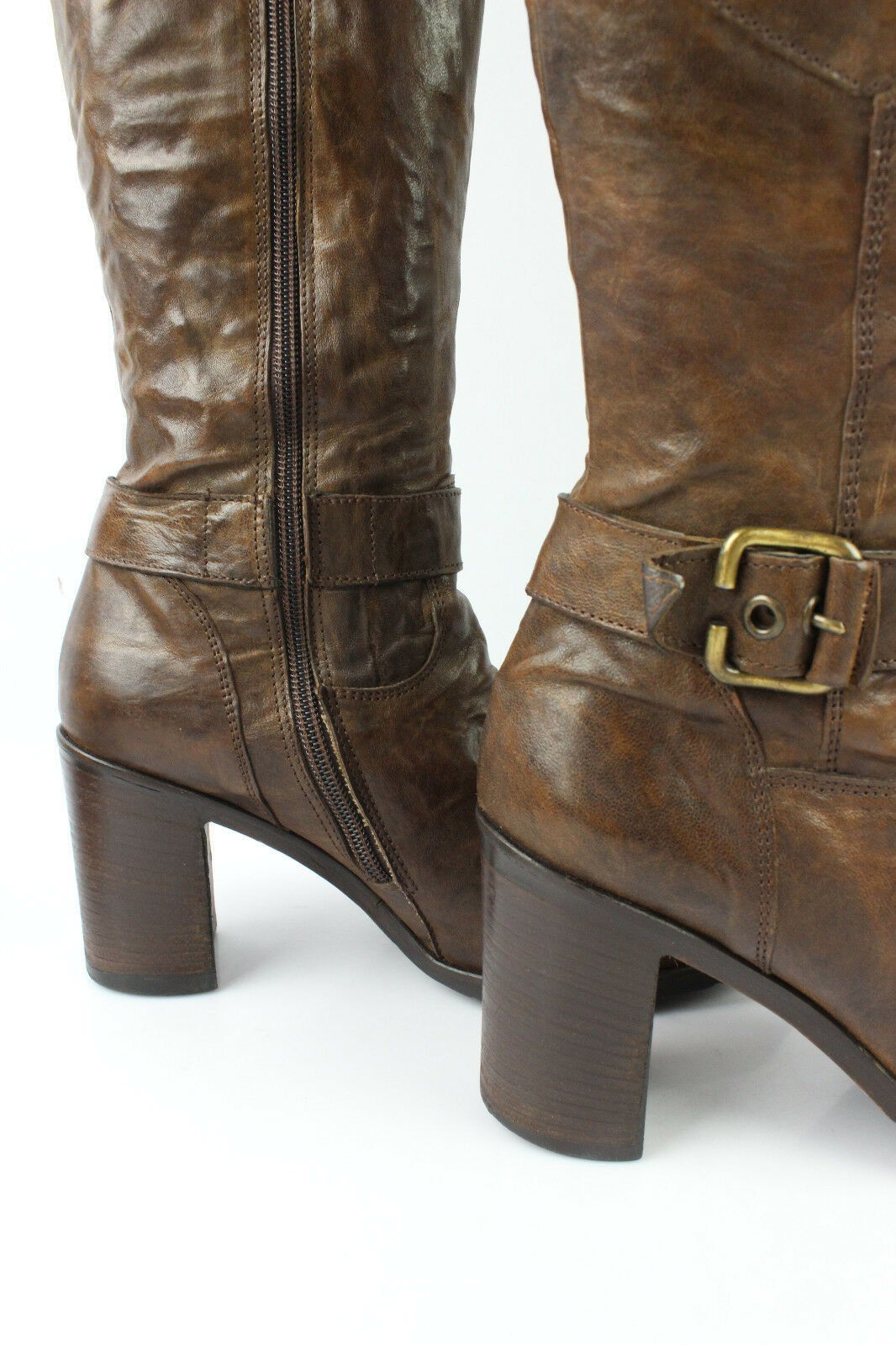 Boots JANET JANET JANET and JANET All Brown Leather T 38 VERY GOOD CONDITION 5b587b