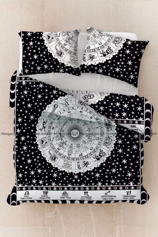 Indian zodiac mandala duvet doona cover bedding comforter cover quilt covers set