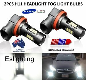 2X-H11-SAMSUNG-LED-9-32V-CAR-HEADLIGHT-FOG-LIGHT-DAYTIME-RUNNING-BULB-GLOBE
