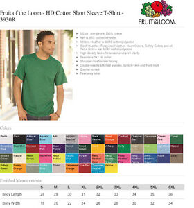 Fruit-Of-The-Loom-3930R-Blank-T-Shirts-50-Shirts-Choice-of-Black-or-White
