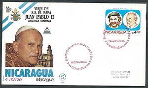 1983 Vaticano Viaggi Del Papa Nicaragua Managua Timbro Di Arrivo - Sv Blanc Pur Et Translucide