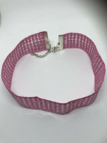 Pink sequin shiny bling choker for many different occasions