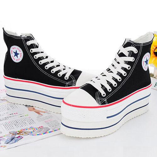 Nuevo Mujer MAXSTAR Original CN9 Snsakers Zapatos_Negro Heel High Top  Lace Up Zip Zapatos_Negro Snsakers de9ec7